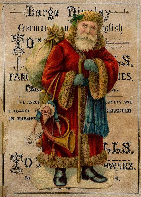 Vintage Christmas 5 5x7 images Download  Print by MarysMontage