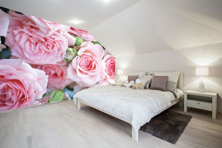 Photo Wallpaper Wall Mural for Bedroom Decor, Living Room Decor, Office or Dining Room - Pink Roses In Full Bloom Floral Large Wall Mural UK by PurpleEyeDesign on Etsy https://www.etsy.com/uk/listing/472978281/photo-wallpaper-wall-mural-for-bedroom