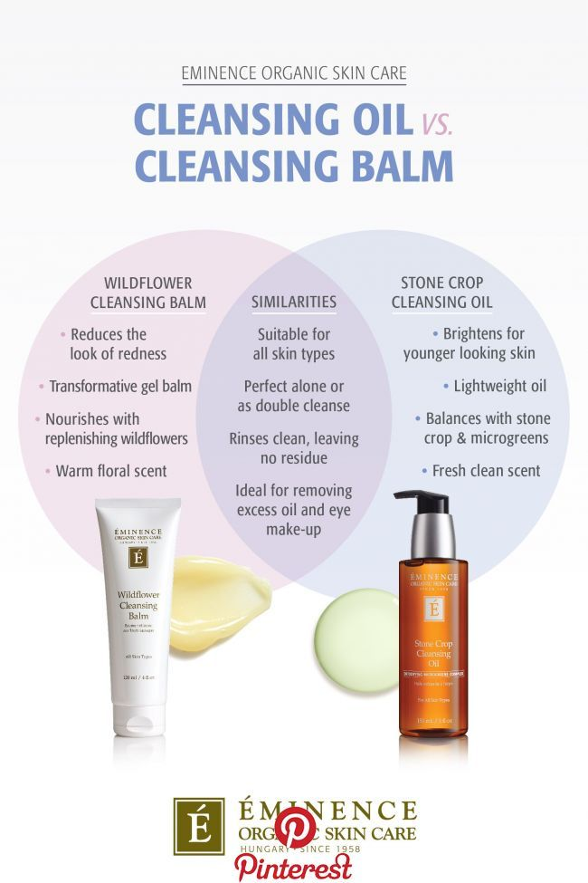 What Is The Difference Between A Cleansing Oil And Cleansing Balm Organic Skin Care Eminence Organic Skin Care Skin Care