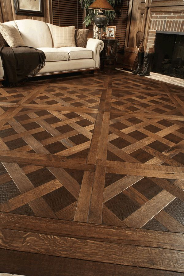 check out this unique wood floor pattern - Floor Design Ideas
