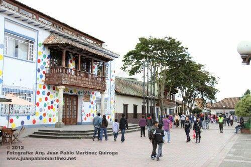 Plaza central de Chia alrededores de Bogotá Colombia