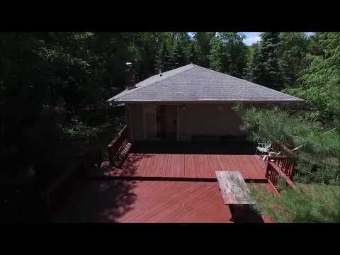 Drone Video of Split Level Contemporary Featuring Maste