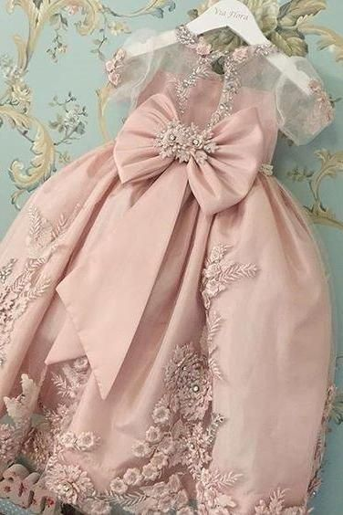 Flower girl Dress,Flower girl Dress Dresses,Cute Flower girl Gowns,Blush Pink Flower girl Dress,Sweet 16 Dress,2015 Style Homecoming Dresses For Teens