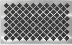 Contemporary Door Mat Stainless Doormat   Diamond   Contemporary   Doormats    Chiasso