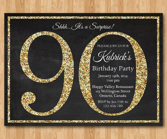 17 Best images about BIRTHDAY INVITATIONS – 90th Birthday Invitation Templates Free