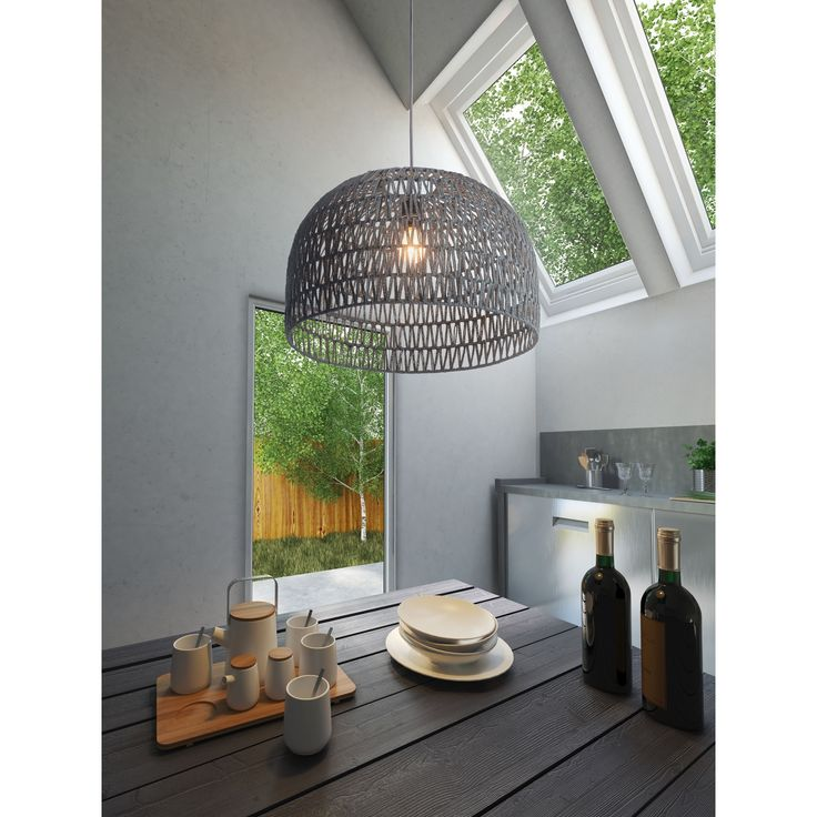 Paradise Grey Ceiling Lamp | Overstock.com Shopping - The Best Deals on Chandeliers & Pendants