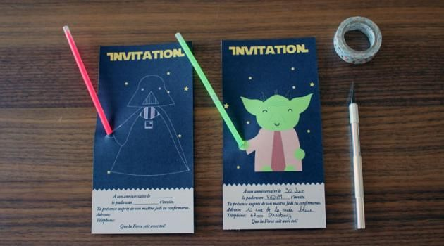 L'anniversaire Star Wars : l'invitation