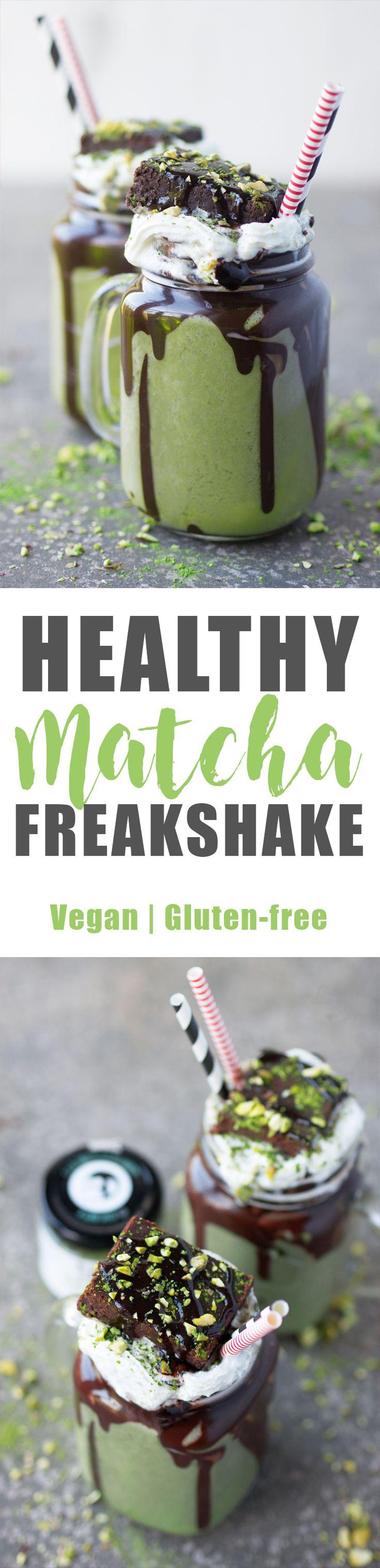 Healthy Vegan Matcha Freakshake