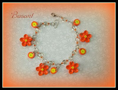 Quilling Me Softly: Quilled bracelet