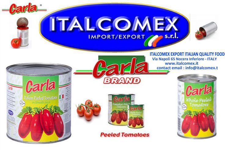 Italcomex Export Italian Food Peeled Tomatoes Carla brand
