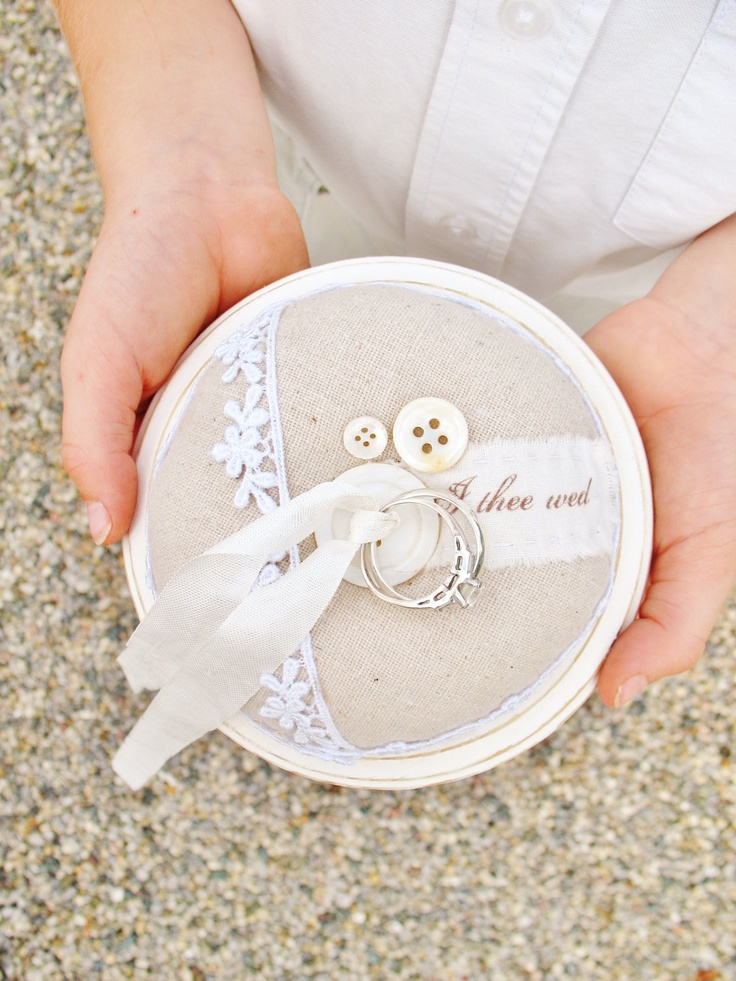 Love this ring bearer sweetness for a shabby chic wedding!