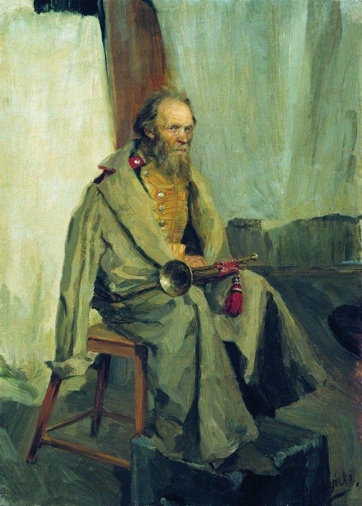 Boris Kustodiev (Russia, 1878 – 1927) The Model Wearing a Greatcoat, 1900