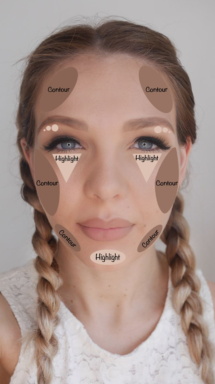 How To Contour And Highlight Correctly For Your Faceshape  Round (pretty  52)