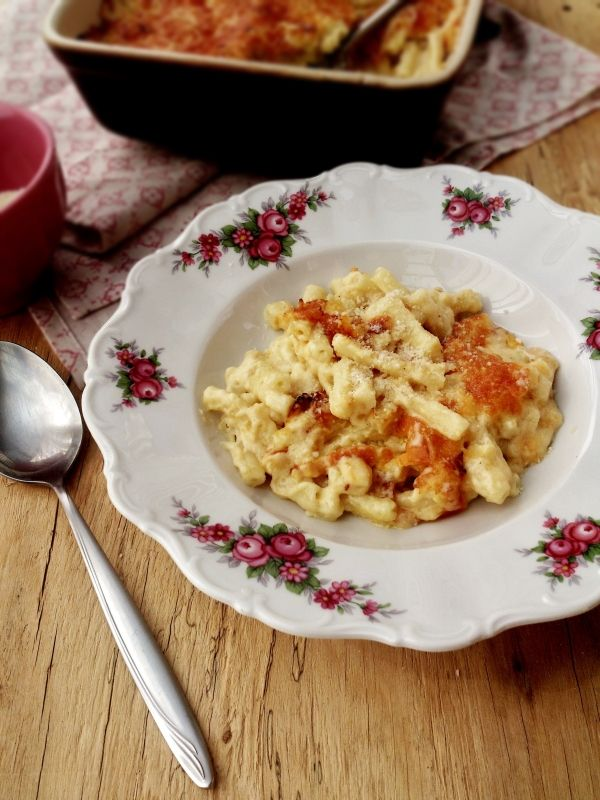 Gratin de macaronis aux 3 fromages (avec béchamel)