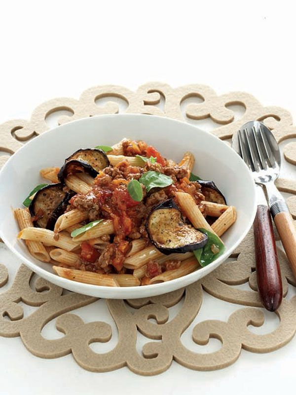 Penne Bolognese With Brinjal