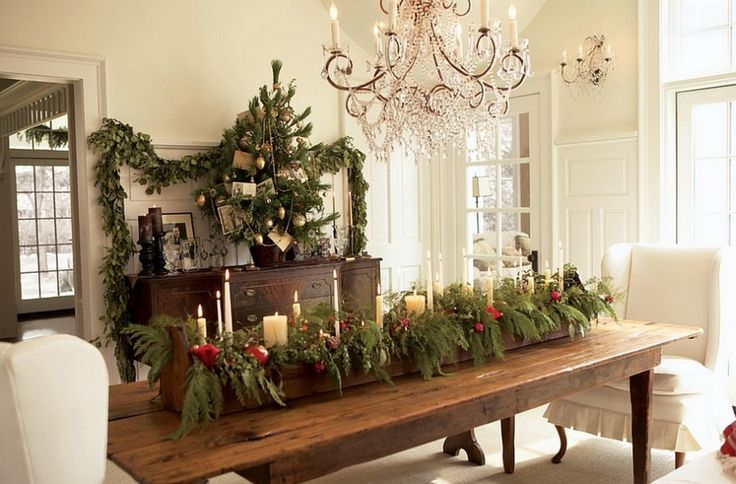 dining room table centerpiece for christmas - Google Search