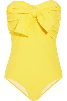 yellow bow bathing suit