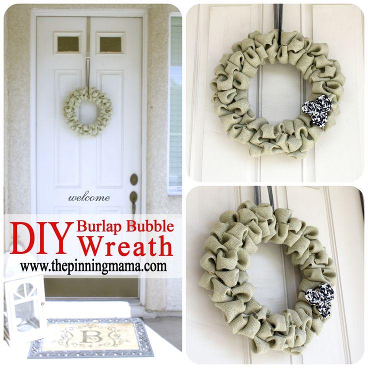 Arpillera de la burbuja de la guirnalda |  #wreath la que fija al Mama #christmas