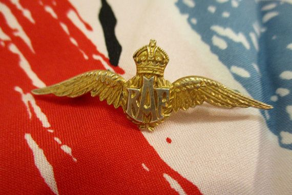 WWII British Royal Air Force Wings Sweetheart Brooch