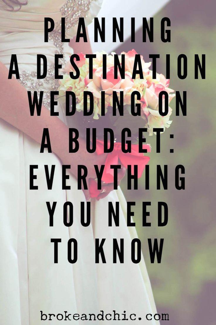 How to Plan A Destination Wedding on a Budget // www.brokeandchic.com