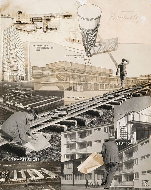 Ilse Bing, Photomontage of projects by Mart Stam from the 1920s, 1930
