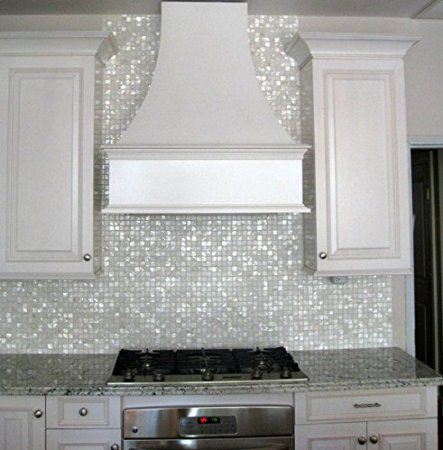 Amazon.com - Oyster Mother of Pearl Square Shell Mosaic Tile for Kitchen…