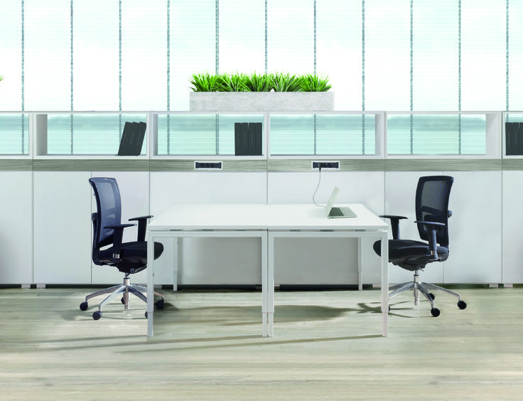 With MO – X you can create an infinite variety of desk configurations, team workstations and meeting tables. #workspace #office #work #space #furniture #work #desk #workstation #custom #variety #team #meeting #commercial #design #interiors