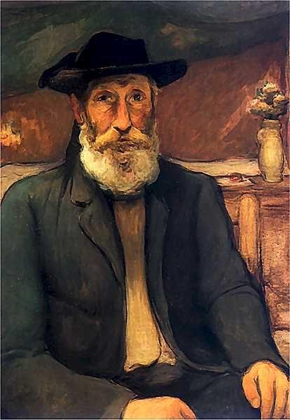Władysław Ślewiński - Autoportret w bretońskim kapeluszu, 1912.