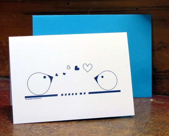For when you want to send a bit of love, greetings card by Lark About Stationery