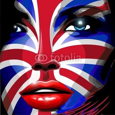 New!   ★ #UK #Union_Jack #Flag #Girl #Portrait #Vector #Art #Design ★   http://bluedarkart.wordpress.com/2014/06/24/uk-union-jack-flag-girl-portrait-design/