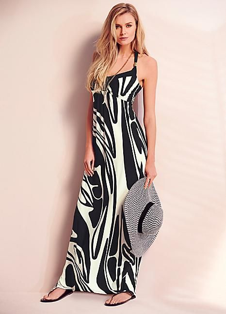 Mono Print Beach-to-Bar Dress  #PackingForMe #Kaleidoscope #Summer #Holiday