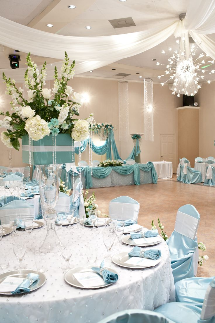 Table Linens Gray Charger Plates And Tiffany Blue Napkins AKA Robin Egg With Rhinestone Napkin Holders