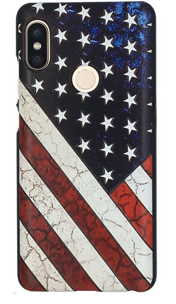 official photos 0f1a1 a76fd Antique distressed American Flag Xiaomi Redmi Note 5 Pro Star ...