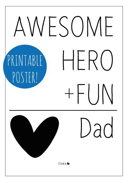 Dad - printable poster #fathersday #vaderdag   Elske   www.elskeleenstra.nl