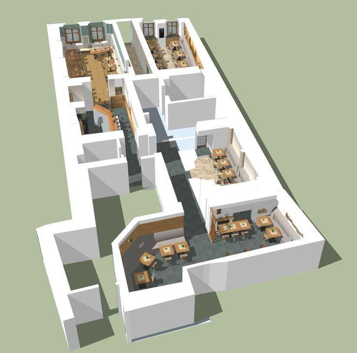 3D Planung und Gastronomie Gestaltungskonzept ...