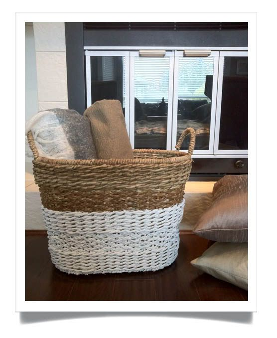 I Had A Bit Of Paint Left Over From The Passed Weeks Renos In My Home  {coming Soon!} And Had Been Enamoured With These Dip Dyed Baskets Ev.