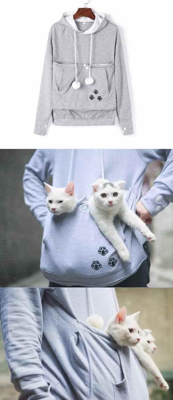Mewgaroo hoodie Mewgaroo Hoodie A One of a kind cat sweatshirt for all cat Lovers