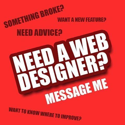 Need a web designer ? Message me today! #webdesigner #webdeveloper #needawebsite #needawebdesigner #wantawebsite #html #css #javascript #php #coding #coder #websitehelp #websiteconsultancy #newfeatures #websitedesign #webdesign #website #websitedesign #websitedesigner #websitebuilder