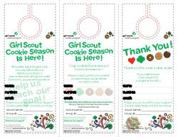 Girl Scout Cookie Door Hangers 2014, modifiedmotherhood.com, Jennifer Johnpoll, tenohfour.com