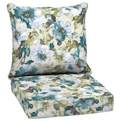 Garden Treasures Morning Bloom Reversible Deep-Seating Chair Cushion