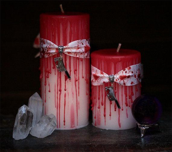 candela di sangue horror Horror di FirstEditionCandleCo su Etsy