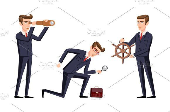vector Business man cartoon  by Rommeo79 on @creativemarket