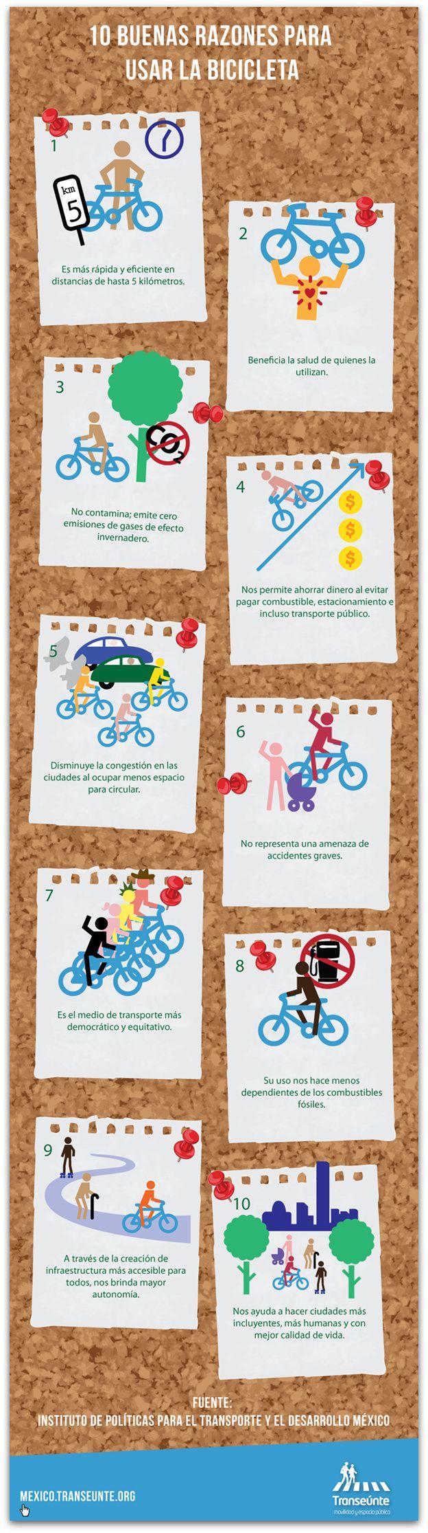 10 buenas razones para usar la bicicleta [infografia]