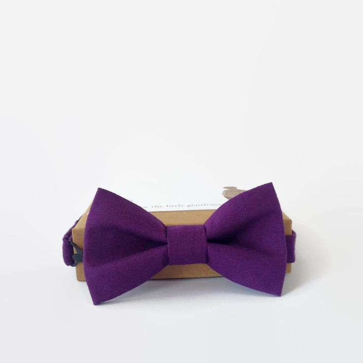 Little Beau Purple Bow TIe $29.00