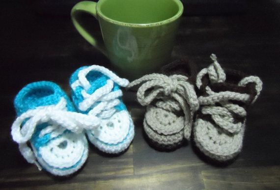 Crochet childs converse style booties by AppleIsleCrafts on Etsy