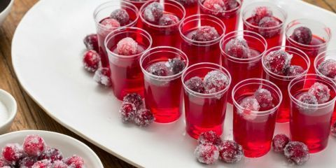 Cranberry Jello Shots with Oyo vodka... A new Thanksgiving tradition!