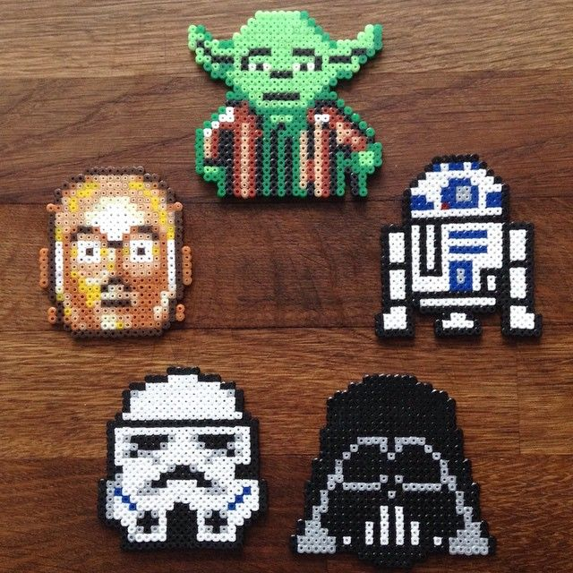 Star Wars hama beads by prettyrandomthings_rach_elske
