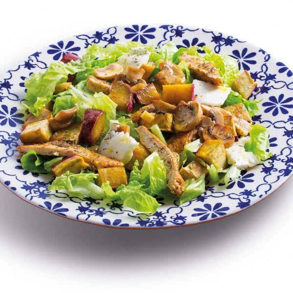 Veja esta de Receita de Salada de Frango com Batata Doce e Queijo de Cabra. Esta e outras deliciosas receitas no site de nestlé Cozinhar.