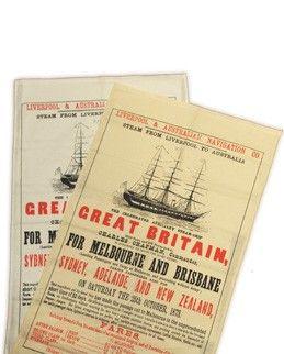 ss Great Britain - Tea Towel Poster
