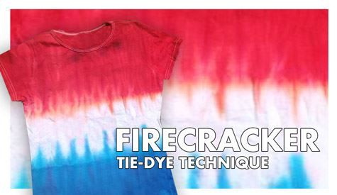 Follow this firecracker tie-dye technique step by step and become a tie-dye expert in no time with our complete tie-dye kits